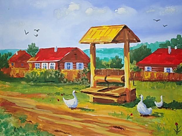 У колодца / Григорьев Антон (12 лет)