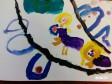 рисунок: Пони Эльза и Анна взбираются на гору